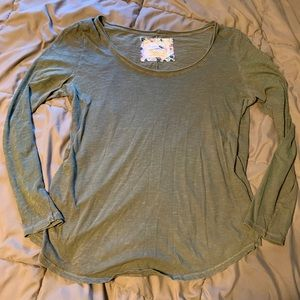 Anthropologie pure & good long sleeve large green